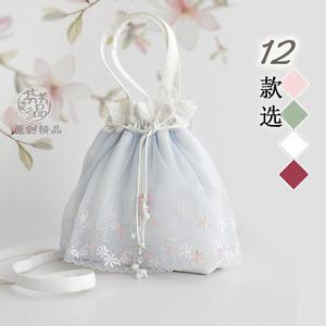 芬芳之品原创手工蕾丝仙女包包新款复古风汉服手提斜挎女包小清新
