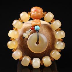 原创西藏羊角佛珠手串善财童子款手链饰品
