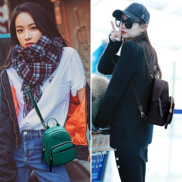 香港明星同款迷你双肩包女2020新款韩版百搭个性牛津布背包小包