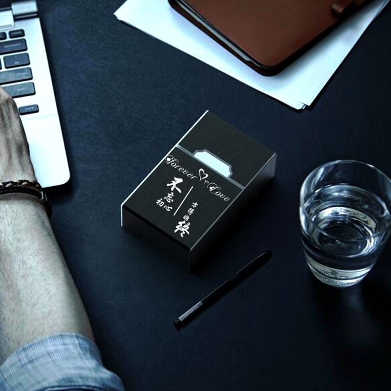 五折促销20支装充电烟盒打火机一体整包香菸盒创意便携个性防风定制送男友