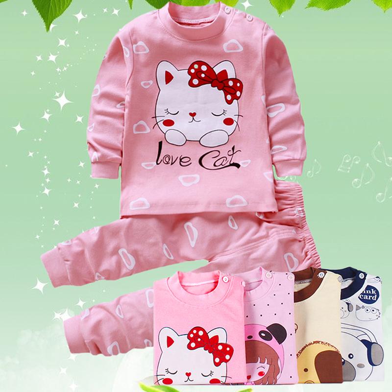 儿童秋衣套装全棉男童女童春装睡衣
