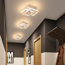 北欧创意衣帽间吸顶灯简约现代阳台灯门厅入户玄关灯过道走廊灯