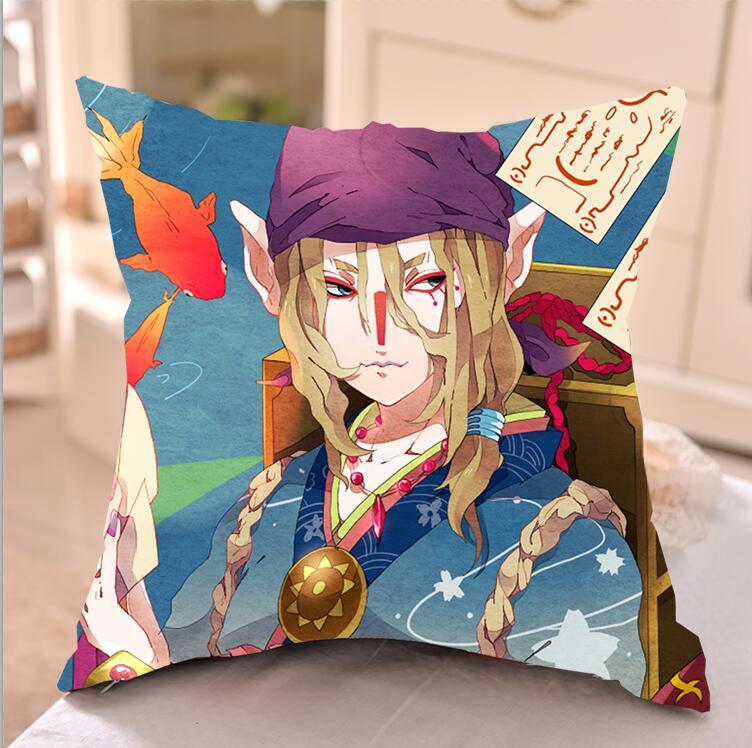 怪化猫卖药郎方形抱枕套芯靠垫diy定制动漫周边cos二次元生日礼物