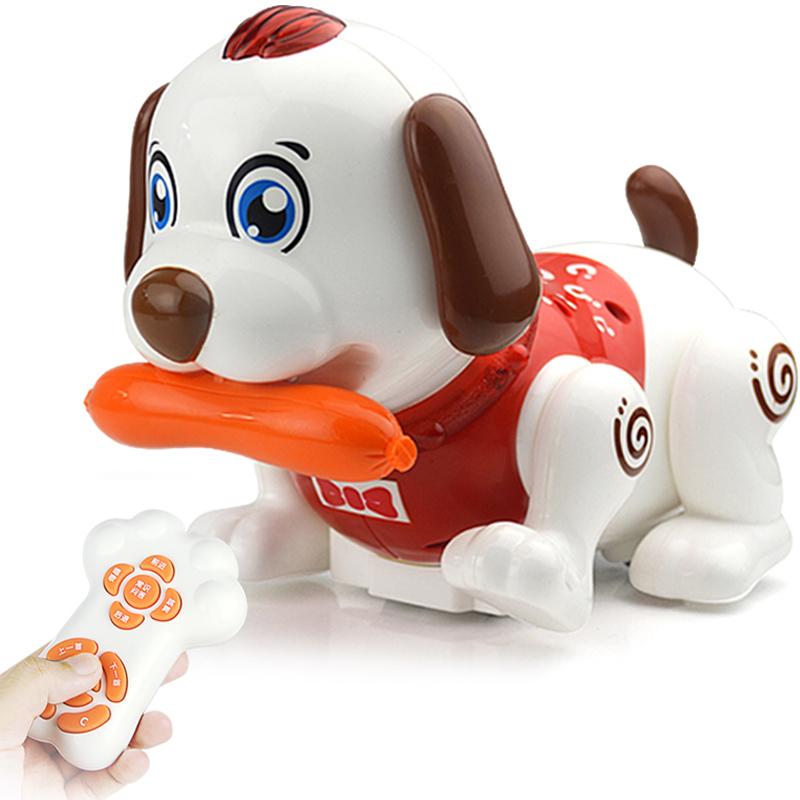 英國高盛智能感應笨笨狗嬰兒早教互動電動爬行玩具兒童遙控機器狗