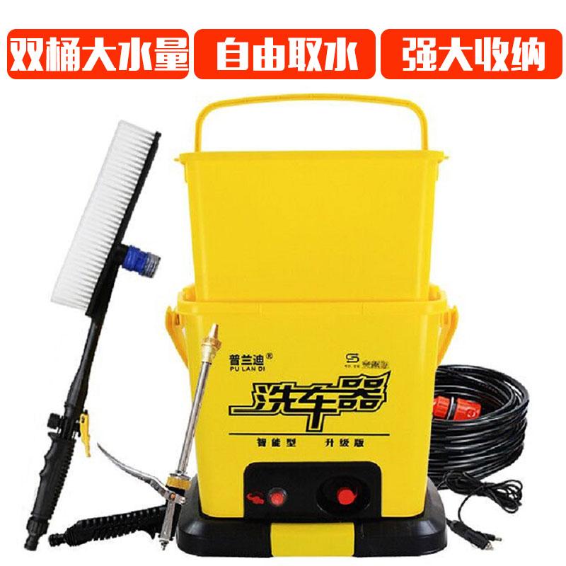 12v车载洗车机220v高压水泵电动刷车神器水枪家用充电式洗车器