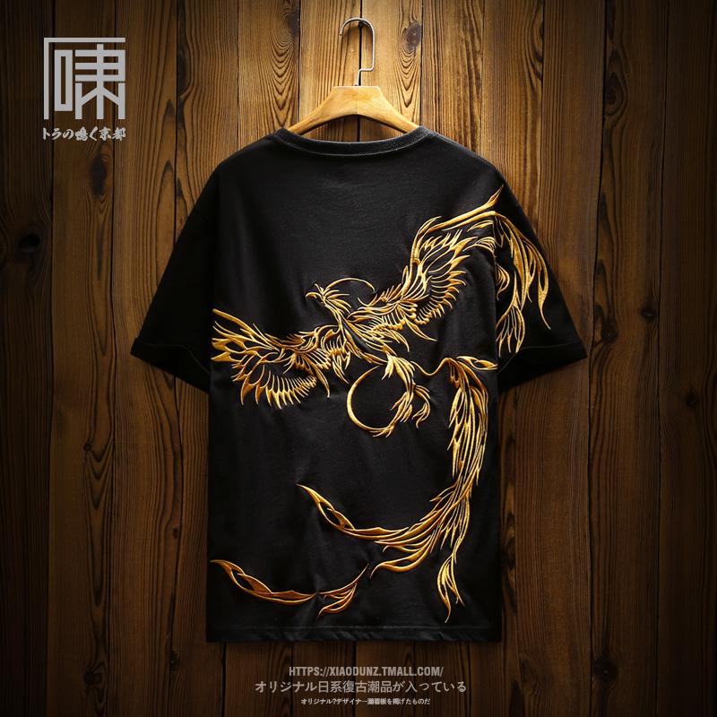潮牌短袖中国风重工刺绣国潮男t恤评价如何?