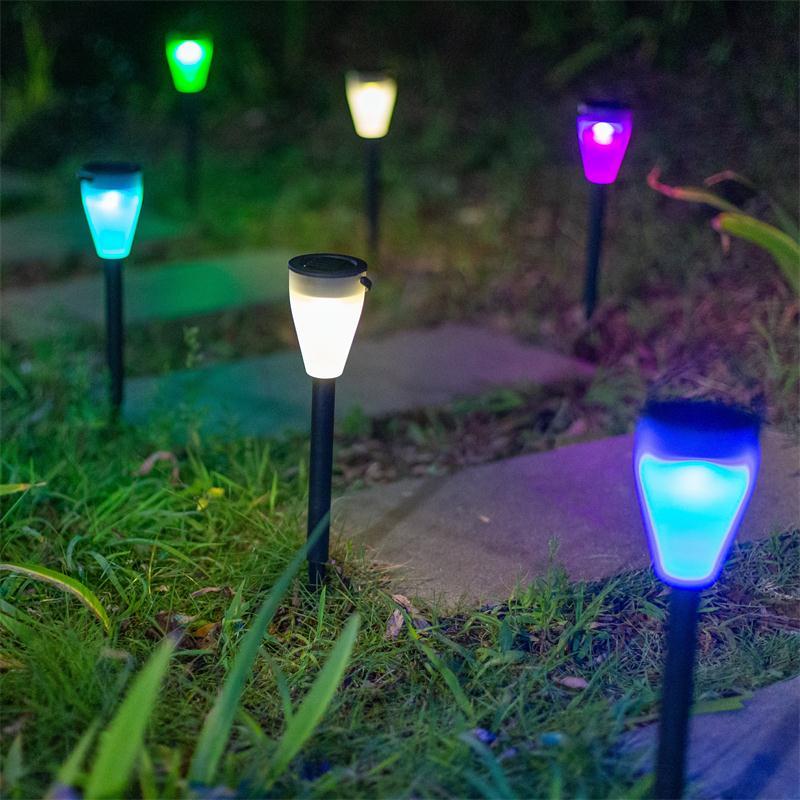 太阳能灯户外庭院草坪灯家用防水花园别墅插地灯景观装饰氛围彩灯