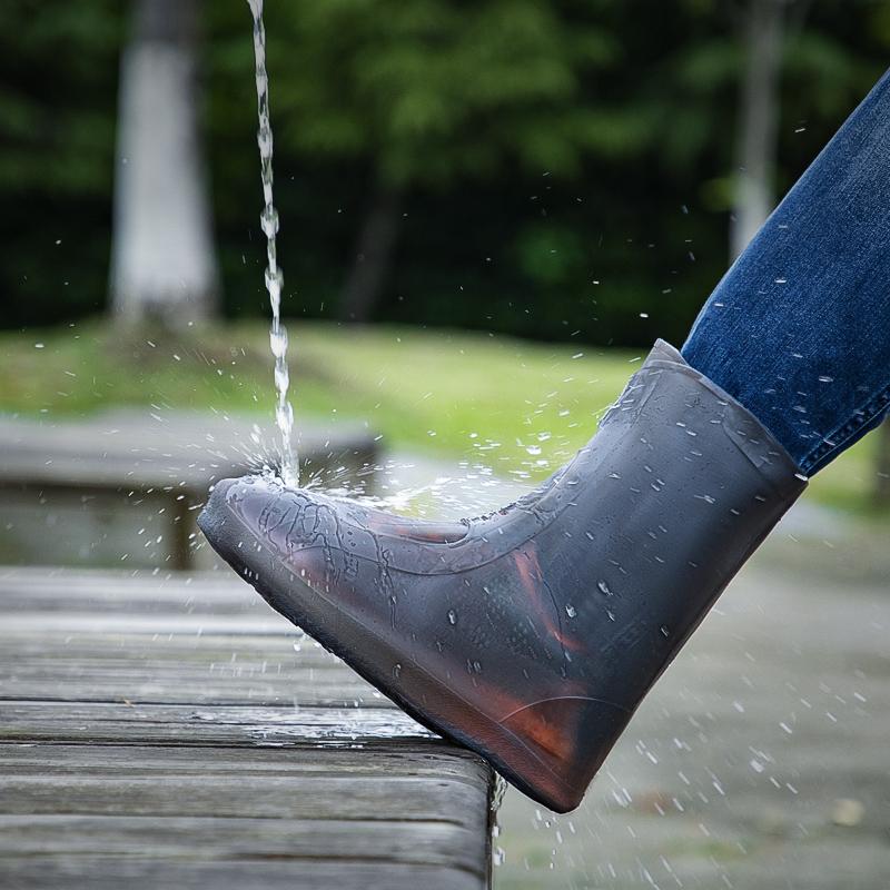 タオバオ仕入れ代行-ibuy99 雨鞋男 雨鞋防雨成人男女防水雨靴防滑加厚耐磨硅胶雨鞋套中高筒儿童水鞋