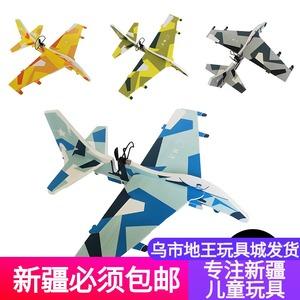 新款手拋飛機電動電容泡沫回旋滑翔機航空模型戰斗機帶燈充電包郵