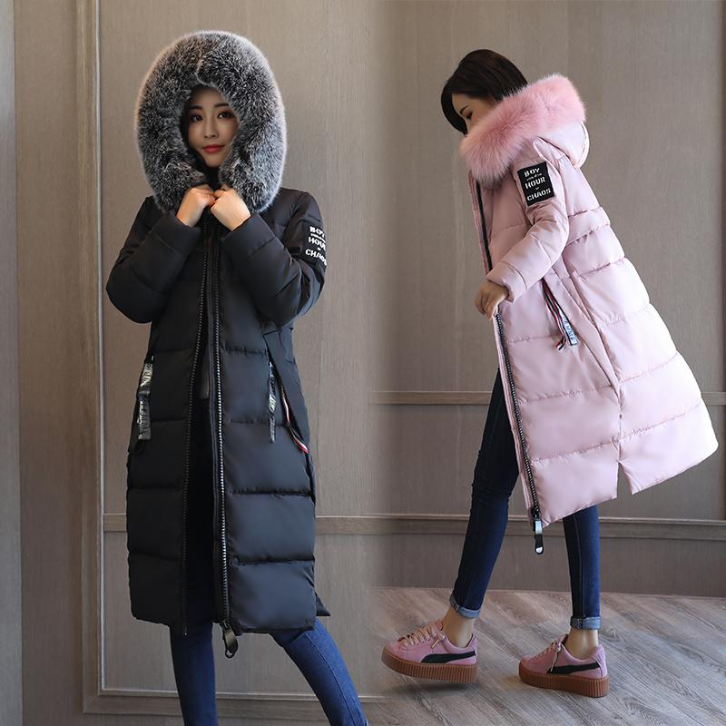 反季特价棉衣女中长款软妹装韩版修身显瘦羽绒棉服外套加厚保暖潮