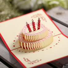Birthday card 3D hand creative 3D Birthday Card Christmas personalized custom greeting card diy paper sculpture greeting card
