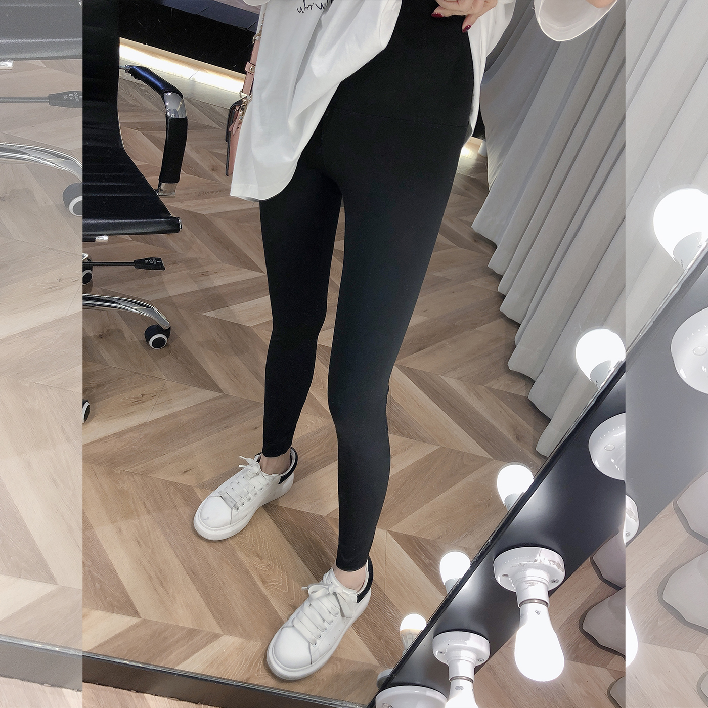 柒柒家2021春季新款百搭显瘦打底裤女外穿紧身弹力修身瘦腿铅笔裤