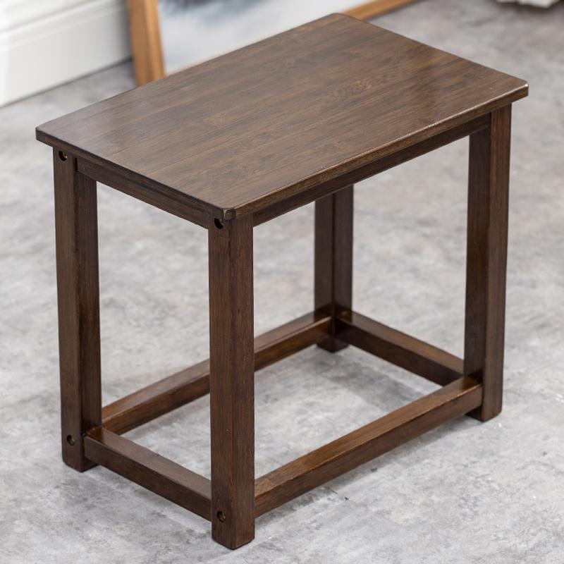 楠竹矮凳新中式茶车茶桌实木方凳