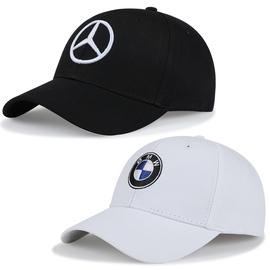 奔驰宝马BMW赛车帽子男棒球帽女汽车纪念礼品AMG鸭舌帽F1赛车帽