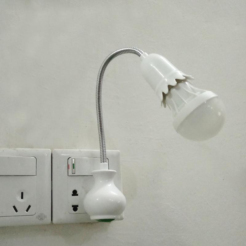 卧室电灯照明节能led灯座万向壁灯