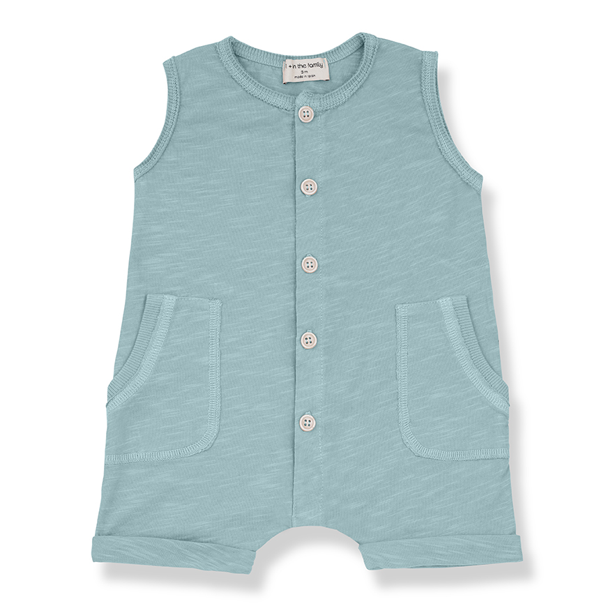 [official authentic] Spanish fashion childrens 1 + in the family20 spring / summer sleeveless short Jumpsuit