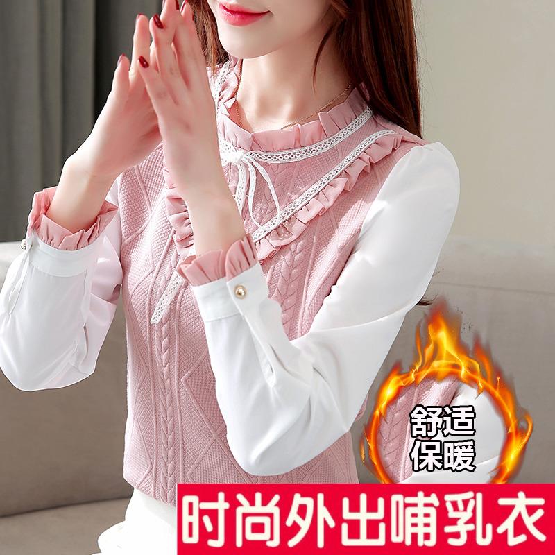 春秋冬季女装哺乳期上衣服产后潮妈打底衫外出时尚辣妈款喂奶T恤