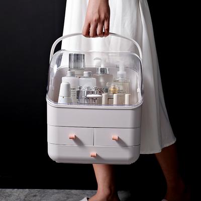 化妆品收纳盒防尘家用大容量抽屉式梳妆台网红桌面护肤品置物架
