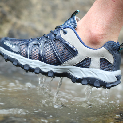 Outdoor upstream shoes summer men and women breathable mesh wading shoes amphibious shoes lightweight non-slip hiking hiking shoes