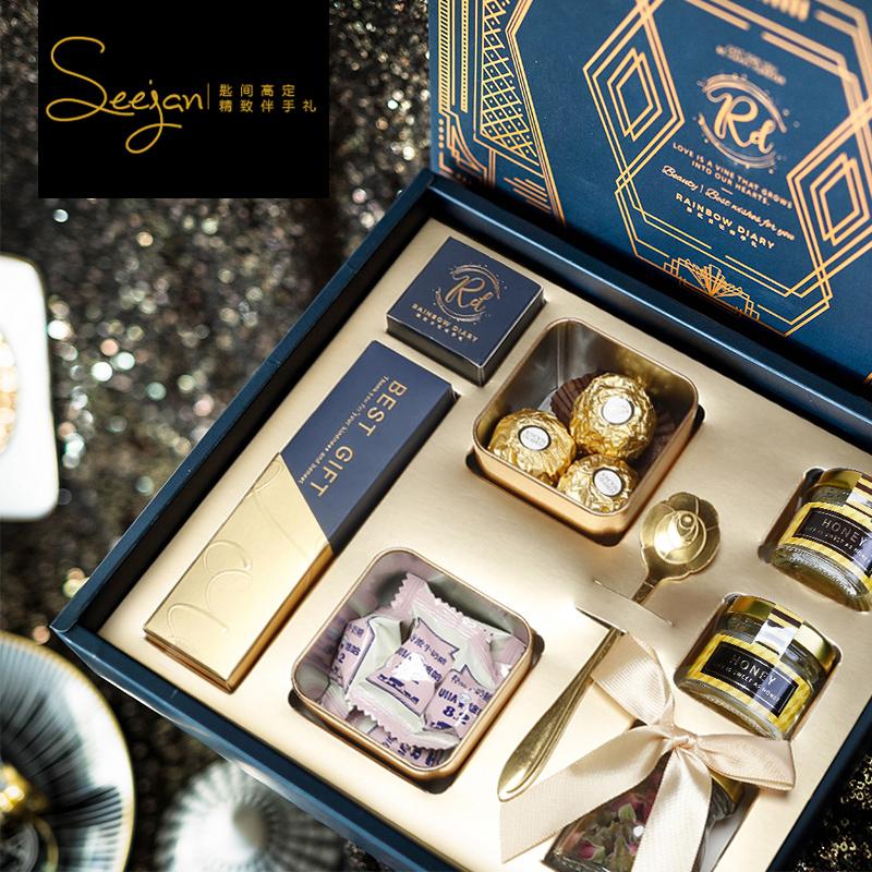 喜糖盒成品含糖伴手礼女伴娘结婚回礼ins伴手礼盒婚礼高档礼盒装满58.00元可用37.2元优惠券