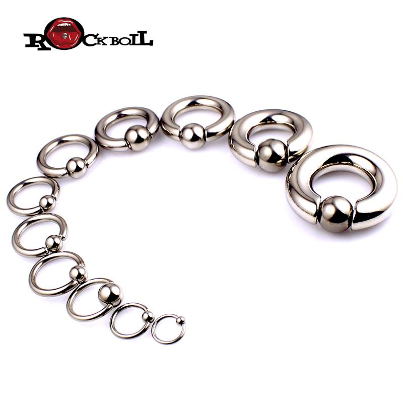 热波钛钢BCR卡球环耳环乳环阴环多用环PA环穿刺饰品防过敏