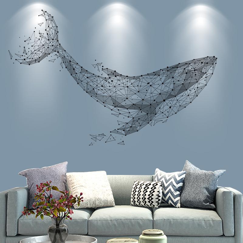 创意个性3d立体墙贴纸卧室装饰墙纸