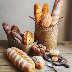 【七茉】仿真面包模型台湾法式软香假蛋糕食物高档逼真面包饰道具
