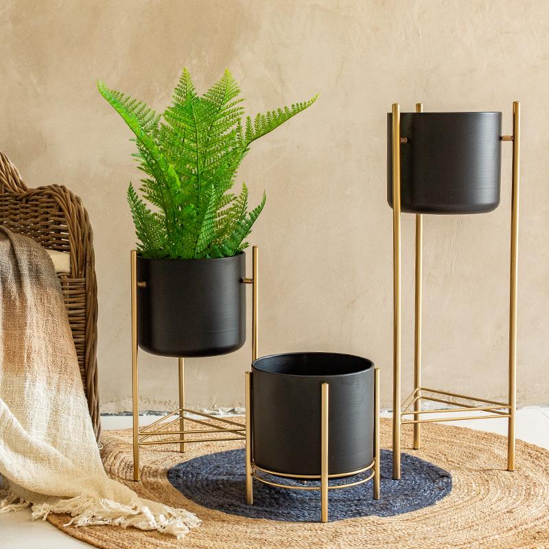 【七茉】创意铁艺花架北欧花盆阳台客厅室内落地式简约家居装饰