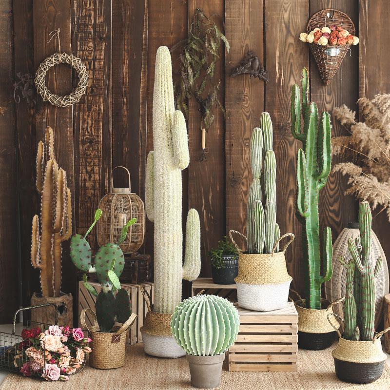【七茉】仿真仙人柱大型仙人掌盆栽假植物客厅家居室内装饰摆件