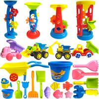 查看儿童沙滩玩具套装挖沙子沙漏大号车铲子和桶宝宝玩沙池决明子工具价格