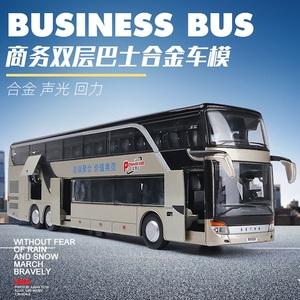 仿真双层公交车模型金属儿童玩具车