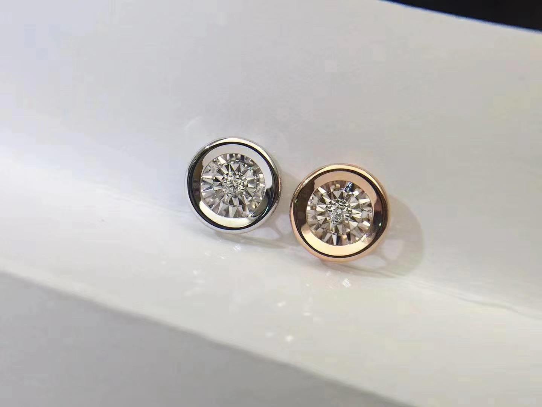法时珠宝 18K金经典泡泡钻石项链吊坠 圆形花瓣心形灵动闪烁bling