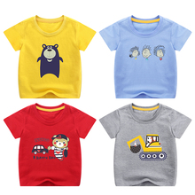 男童短袖T恤2020新款夏装宝宝纯棉上衣小童t帅气婴儿童卡通体恤潮
