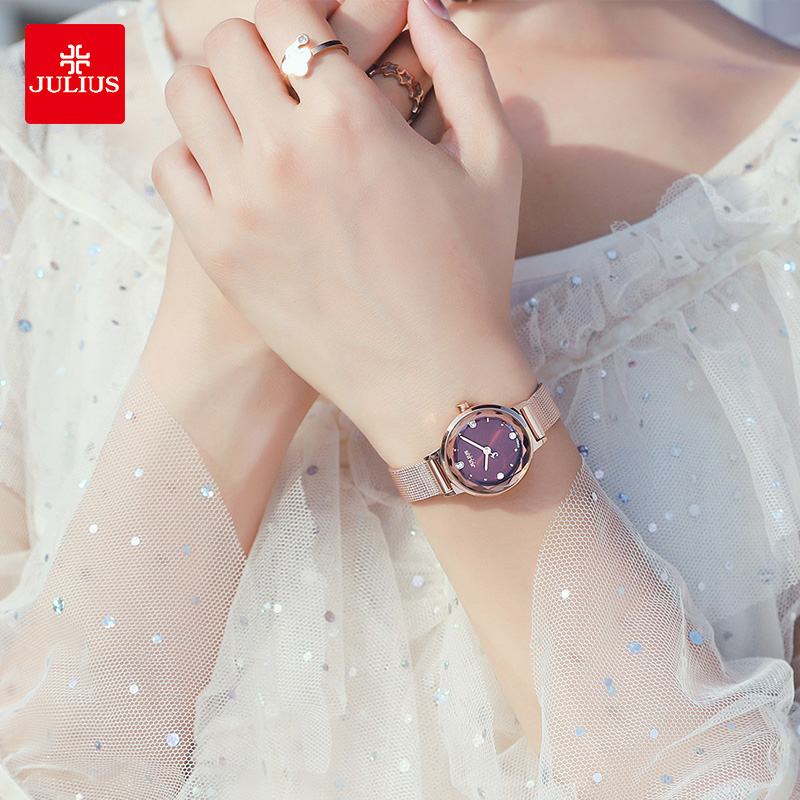 聚利时女士手表简约小巧气质防水夏季小表盘2021新款小众轻奢石英