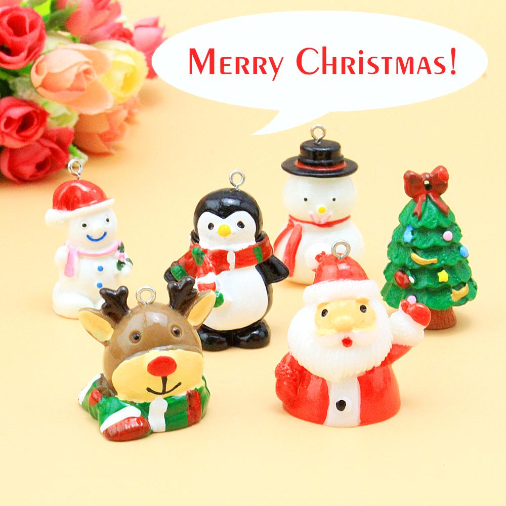 Handmade DIY Mosaic music box decoration accessories cartoon resin Christmas series three-dimensional doll Pendant