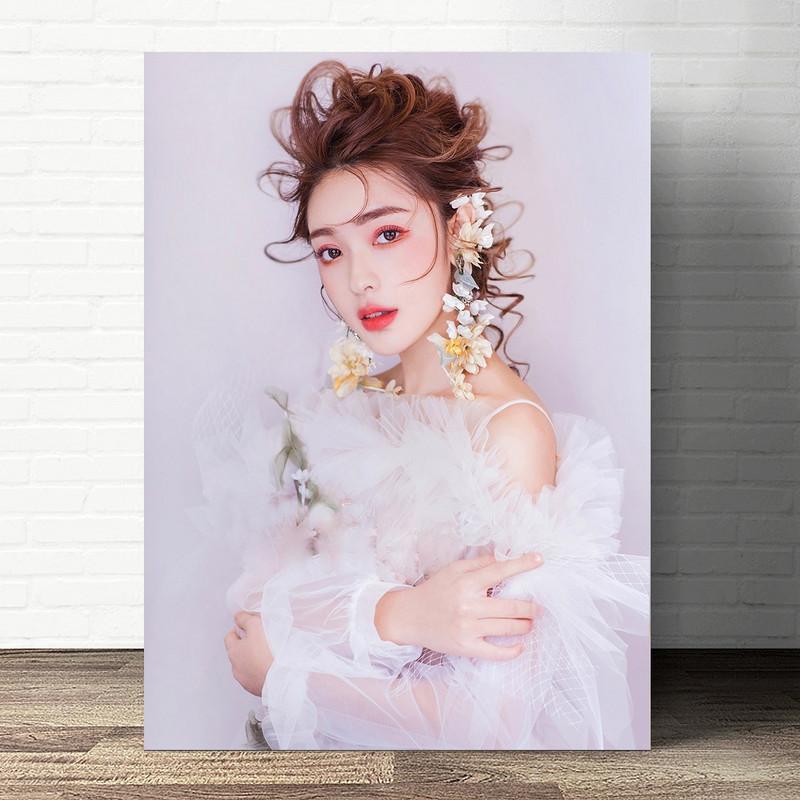 宣传画发型盘发海报写真定制跟妆彩妆造型图片新娘妆新娘化妆