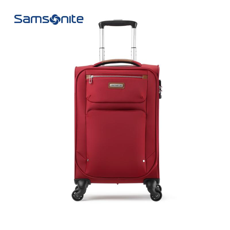 TD4新秀丽商务拉杆箱轻盈软箱登机箱时尚差旅行李箱Samsonite