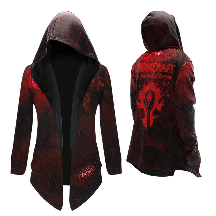 魔兽世界联盟部落风衣中长款外套加绒青少年游戏周边衣服男WOW