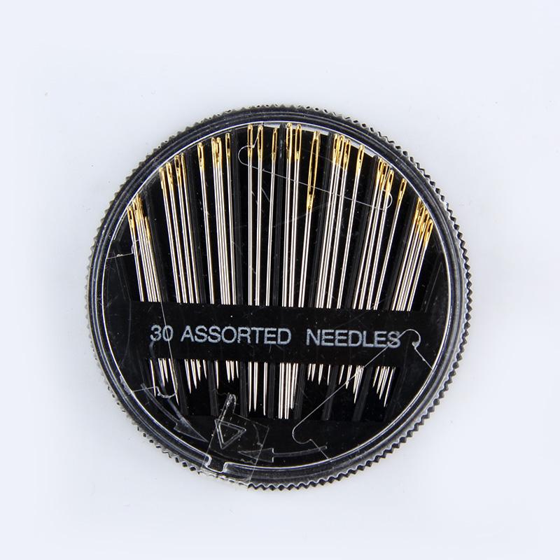 黑盒针进口缝衣针大孔毛衣十字绣针缝纫针手工金尾手缝针针线