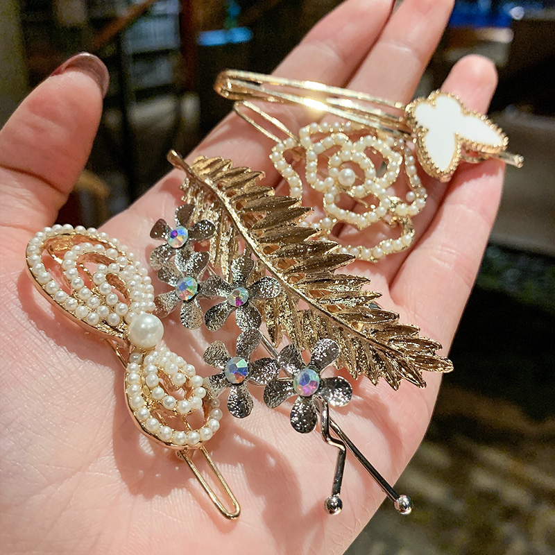 发夹女后脑勺韩国珍珠网红发卡刘海少女泫雅风夹子一字夹头饰边夹券后8.90元