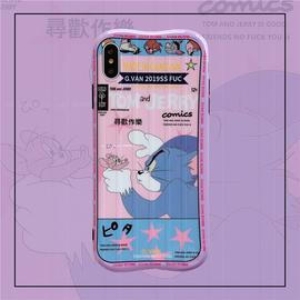 粉色旧漫卡通8plus/7p/6s苹果x手机壳XS Max/XR/iPhoneX女iPhone11Pro套创意个性全包防摔保护套硅胶潮牌日韩图片