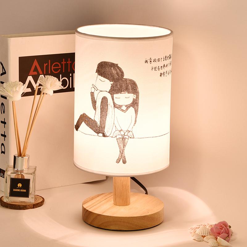 台灯卧室床头灯北欧创意简约现代浪漫温馨喂奶夜灯可调光触摸台灯