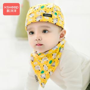 春秋薄款男宝宝纯棉海盗帽婴儿帽子