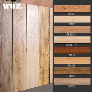 北欧客厅150800地板砖阳台瓷砖木纹砖仿古砖卫生间墙砖仿木纹地砖