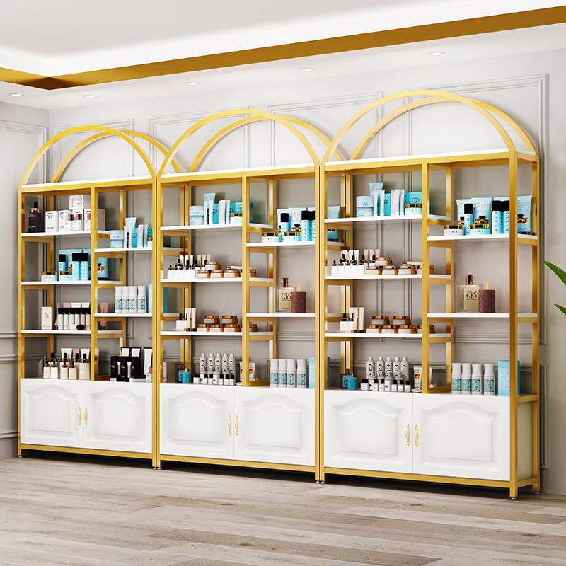 货架展示架陈列架自由组合超市母婴美容院产品化妆品展示柜陈列柜