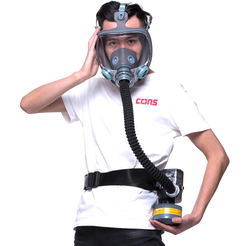 防毒面具透气化工喷漆工业农药实验室700面罩可配电动送风