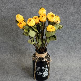 雲南玫瑰乾花花束真花北歐風裝飾擺設ins家居客廳文藝小清新
