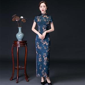 旗袍2020新款女中国风复古传统短袖宴会旗袍改良版连衣裙