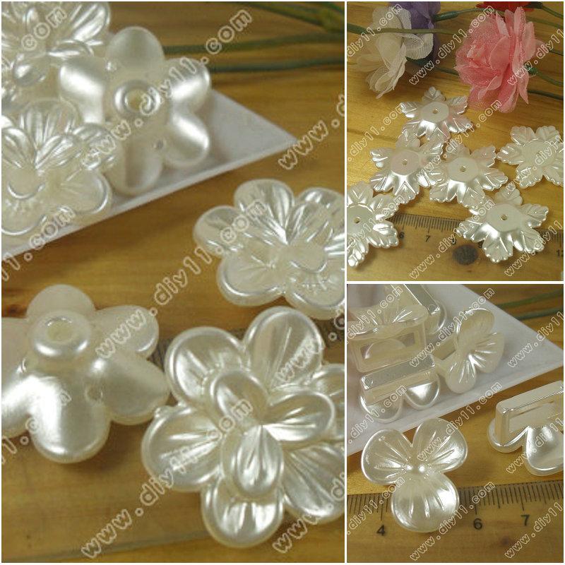 1个价 仿珍珠 花朵系列 ABS贴片 米白珍珠白珍珠贴片 仿珍珠花Q2