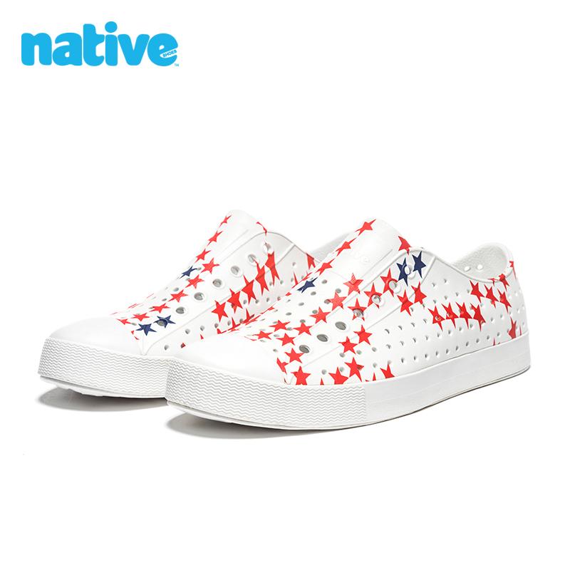 native shoes男鞋女鞋几何印花Jefferson舒适透气EVA洞洞鞋凉鞋